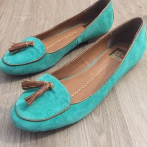 DV Dolce Vita Green Loafers with Tassel